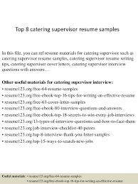 catering manager resume top 8 catering supervisor resume samples 1 638 jpg cb 1428556549