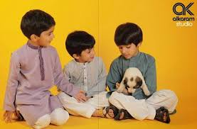 latest eid festival collection of kids wear formal dresses for