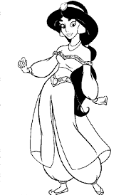 charming jasmine on aladdin colouring pages 1 princess jasmine