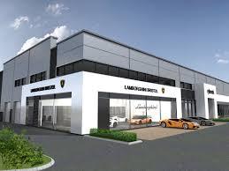 lamborghini showroom building multi franchise showroom bristol at architects leamington spa