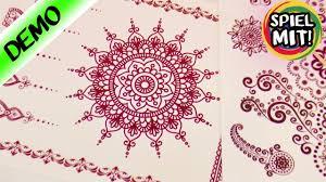 mandala tattoo zum aufkleben henna tattoos zum aufkleben super schöne mandala muster für die