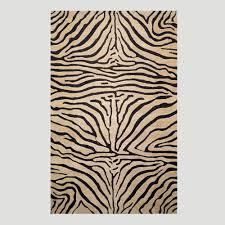zebra wool rug neutral world market