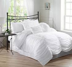 Chezmoi Collection White Goose Down Alternative Comforter Chezmoi Collection Chic Ruched Comforter Set Review
