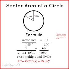 Area Formula by Area Of A Sector Equation Jennarocca