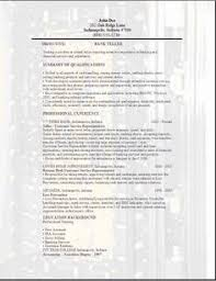 Sample Resume For Teller by Bank Teller Resume Sample Resume Samples Across All Industries