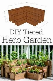 diy tiered herb garden tutorial herbs garden outdoor spaces and
