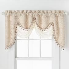amazon com hlc me portofino beige jacquard curtain valances 52