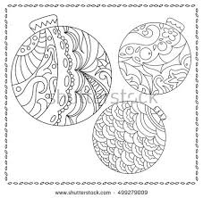 Christmas Fir Tree Ornament Coloring Page Stock Vector 499279009 Tree Coloring Pages Ornaments