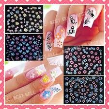 3d nail art sticker cute decal design korean style 1pcs flower