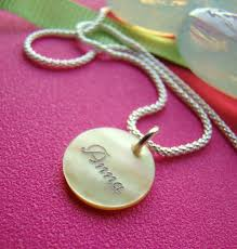pearl necklace names images Engraved wood or shell name bracelets necklace pendants and JPG