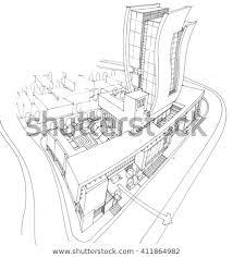 Sketching Design Conceptual Design Administrative Tower Stock