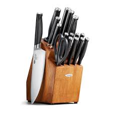 what is a good set of kitchen knives oxo good grips 17 piece pro knife block set 11162000 the home depot