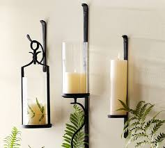 Crystal Candle Sconce Artisanal Wall Mount Candleholder Pottery Barn