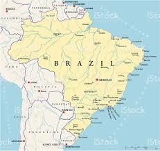 Longitude Map Brazil Political Map Stock Vector Art 497079575 Istock