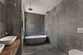 custom concrete tile shower encinitas ca industrial bathroom