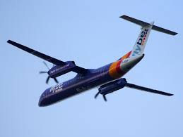 file g jedp bombardier dash 8 q400 takeoff from schiphol pic3
