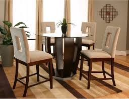 tall dining room tables sophisticated high dining room sets adelson chocolate 5 pc counter