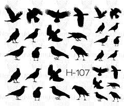 halloween decals crow raven silhouette halloween nail water transfer decal sticker