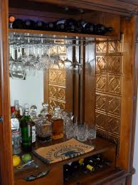 Glass Bar Cabinet Designs Varnished Wood Bar Cabinet Design For Kitchen Bar With Glass Rack
