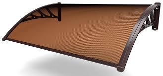 tettoia in plastica pensilina alveolare fume 160x120 cm it fai da te