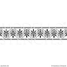 Stencils For Home Decor Custom Border Stencils For Painting Walls U0026 Ceilings Modello