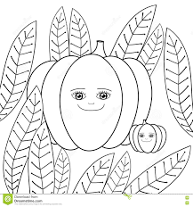 cute pumpkins coloring book page mother pumpkin and baby in