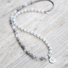 white quartz necklace images Moonstone and quartz crystal mala necklace lovepray jewelry jpg