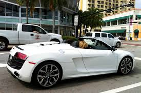 audi r8 gold white 2012 audi r8 spyder on south beach exotic cars on the