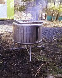 Making Fire Pit From Washer Tub - stainless steel garden incinerator patio heater from recycled