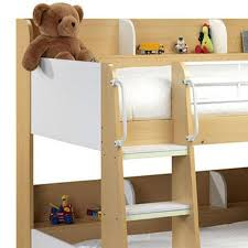 Julian Bowen Bunk Bed Julian Bowen Domino Bunk Beds In Maple And White Furniture123