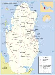 Qatar Route Map by Qatar Map