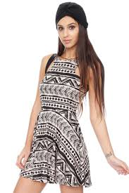 tribal dress tribal print cutout skater dress dresses grayson shop