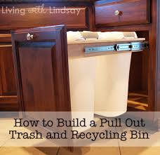 pull out trash can for 12 inch cabinet how to build a pull out trash and recycling bin makely