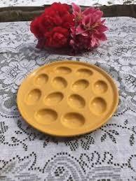 fiestaware egg plate new marigold golden yellow 11 1 4 egg plate fiestaware ebay