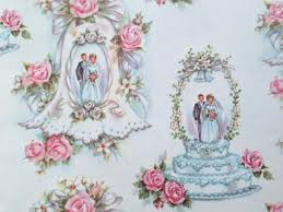 wedding wrapping paper vintage gift wrapping paper bridal shower wedding cake topper