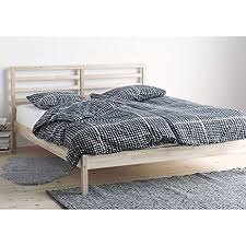 ikea bed amazon com ikea tarva queen size bed frame solid pine wood brown