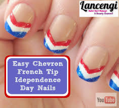 lancengi easy nail art for beginners patriotic red white u0026 blue