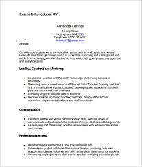 functional resume template pdf sle functional cv 9 documents in pdf word