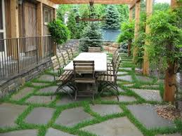 Backyard Stone Patio Designs Home Decorating Interior Design - Backyard stone patio designs