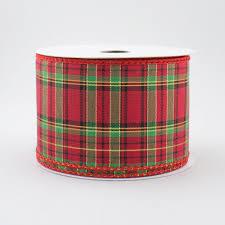 2 5 metallic scotch plaid ribbon black green 10 yards