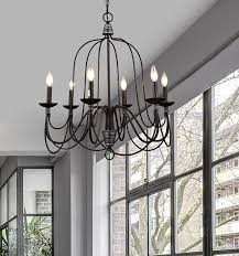 Chandelier Light Fixtures by Claxy Ecopower Lighting Industrial Vintage 6 Lights Candle