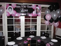 50th birthday party supplies birthday party decor theme pink silver black 50th bday my