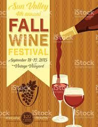 retro wine tasting event invitation poster template stock vector