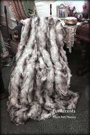 Fake Fur Blanket Amazon Com Fur Accents Throw Blanket Warm White Gray And Black