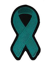 teal ribbons teal ribbon for ovarian cancer awareness patch teal