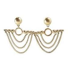 swag earrings vintage signed chain swag earrings 珠宝设计