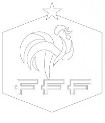 french football federation logo free coloring pages countries