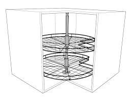 Kitchen Cabinet Carousel Corner 3 4 Corner Carousel For Corner Base Units Solid Wood Kitchen