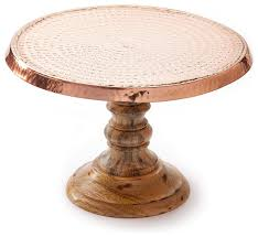 Hammered Copper Dining Table Hammered Copper Cake Stand Rustic Dessert And Cake Stands By