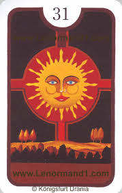 lenormand meaning of the sun by the lenormand cards with